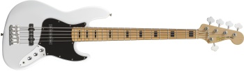 Squier Vintage Modified Jazz Bass® V, Maple Fingerboard, Olympic White