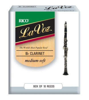 LAVOZ Bb Clarinet Medium Soft - 10 Pack