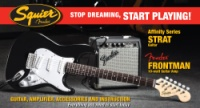 Squier Stop Dreaming, Start Playing!  Set: Affinity Series  Strat with Fender Frontman 10G Amp, Bla