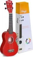 UNKNOWN SOPRANO UKULELE RED+BAG