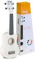 UNKNOWN SOPRANO UKULELE WHITE+BAG