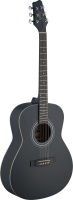 Stagg SA30A-BK LH Left Handed Auditorium Acoustic Guitar - Black
